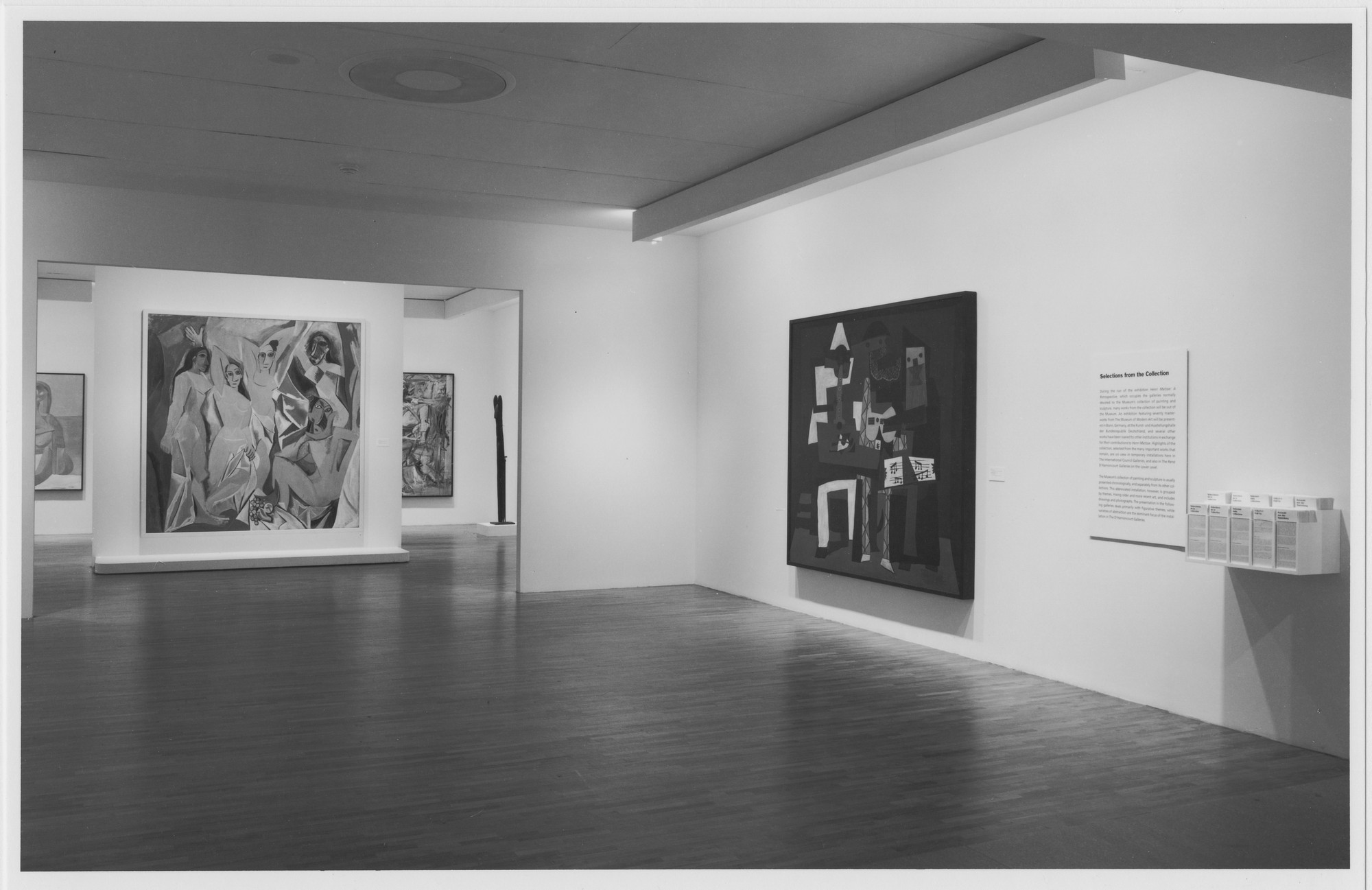 "Installation view of the exhibition, ""Selections from the Collection"" September 9, 1992–February 17, 1993; October 2, 1992–February 2, 1993: d'Harnoncourt Galleries 1-3; October 10, 1992–February 21, 1993: d'Harnoncourt Gallery 4. Photographic Archive. The Museum of Modern Art Archives, New York. IN1632.1. Photograph by Mali Olatunji."