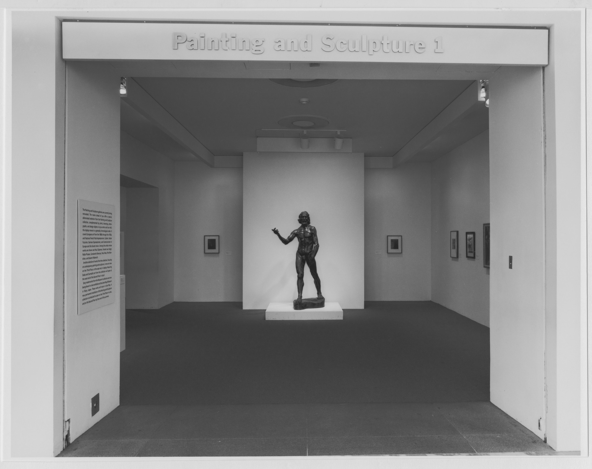 "Installation view of the exhibition, ""Selections from the Collection"" September 1992–January 1993. Photographic Archive. The Museum of Modern Art Archives, New York. IN1647.1. Photograph by Mali Olatunji."