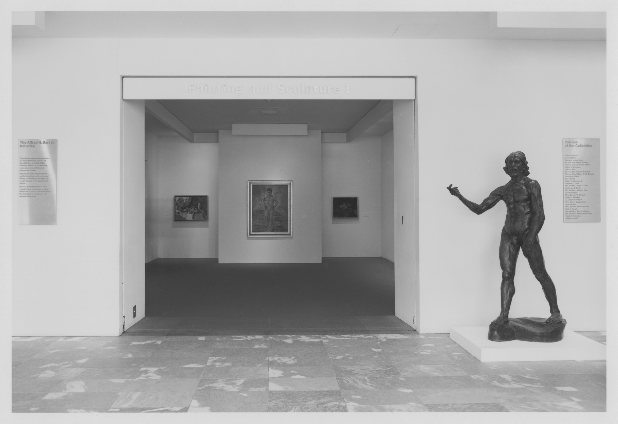 "Installation view of the exhibition, ""Selections from the Permanent Collection of Painting and Sculpture"" c. 1993. Photographic Archive. The Museum of Modern Art Archives, New York. IN1656.1. Photograph by Mali Olatunji."