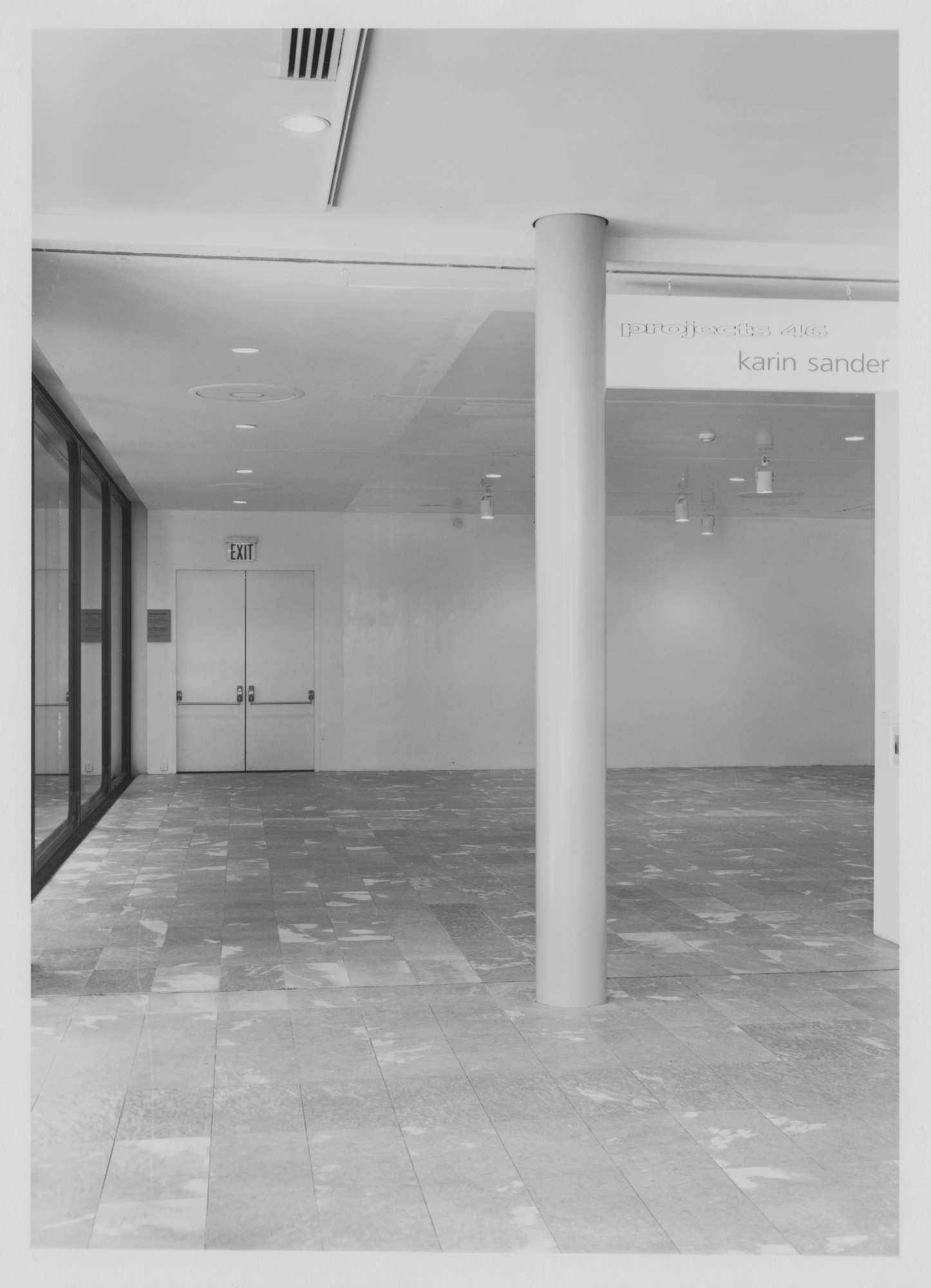 "Installation view of the exhibition, ""Projects 46:  Karin Sander"" April 26, 1994–June 6, 1994. Photographic Archive. The Museum of Modern Art Archives, New York. IN1678.1. Photograph by Mali Olatunji."