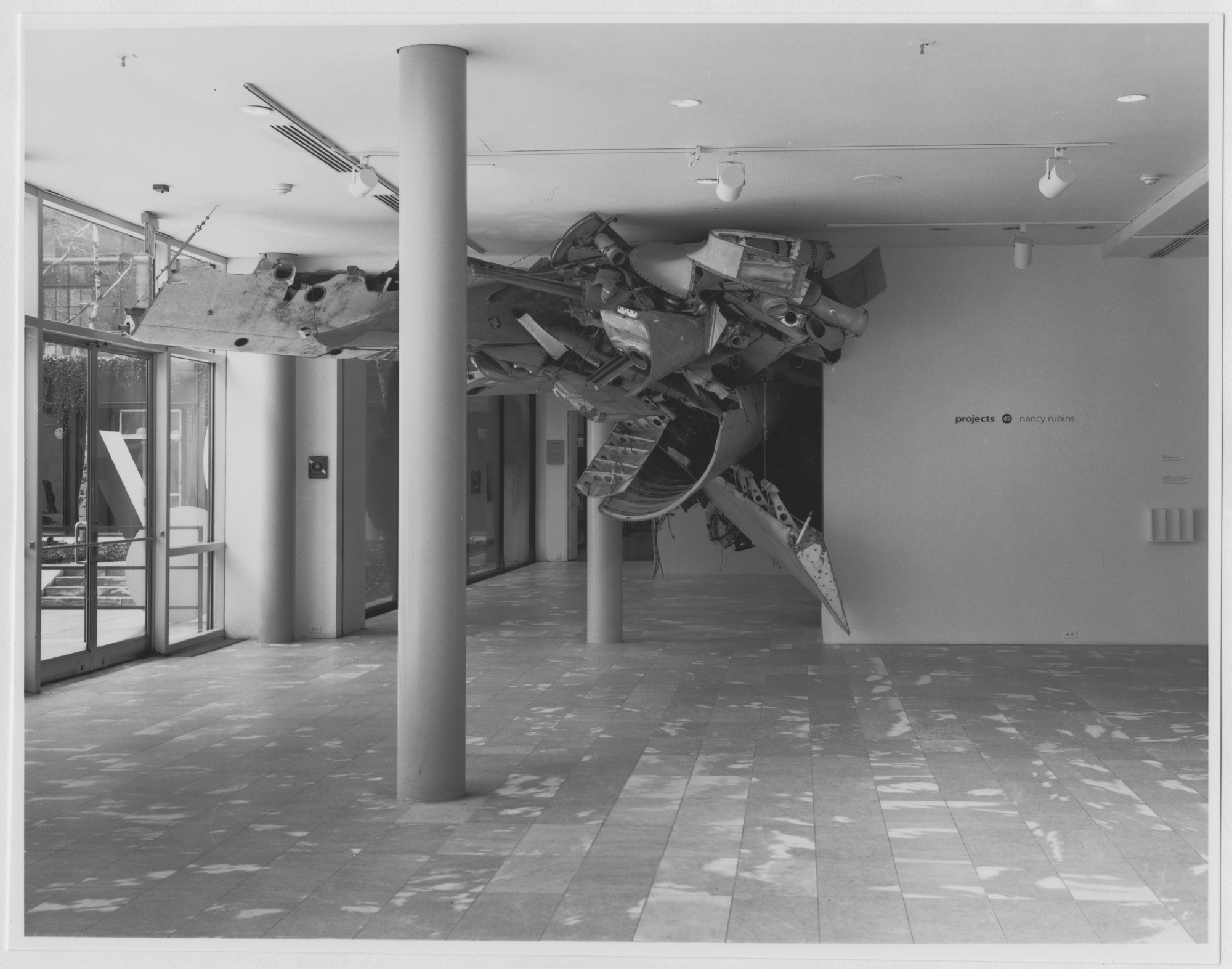 "Installation view of the exhibition, ""Projects 49: Nancy Rubins"" January 24(26), 1995–March 14, 1995. Photographic Archive. The Museum of Modern Art Archives, New York. IN1705.1. Photograph by Mali Olatunji."