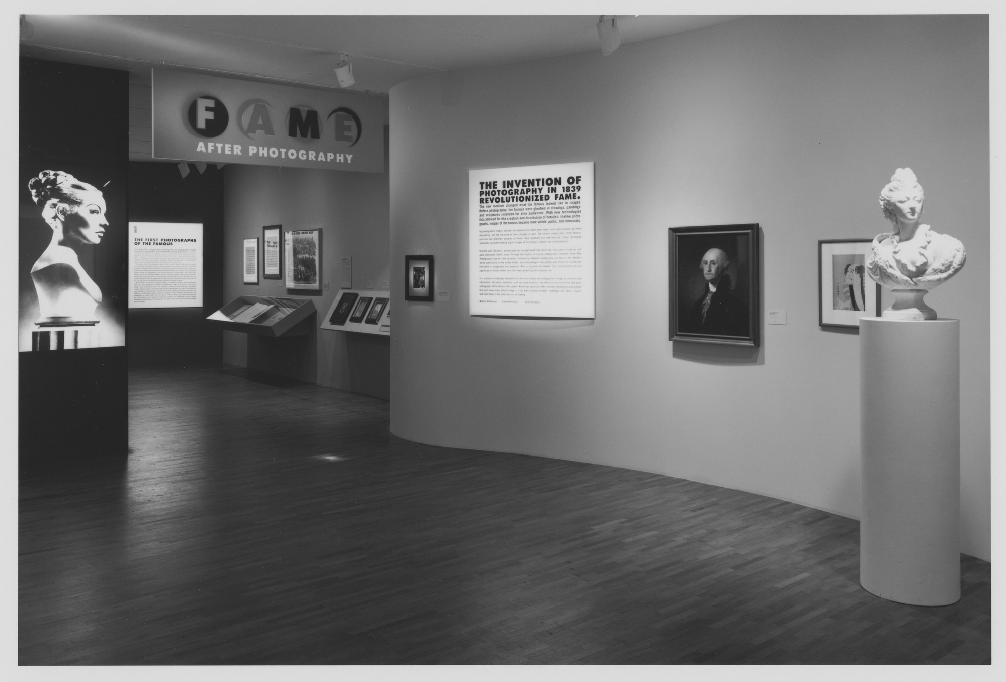 "Installation view of the exhibition, ""Fame After Photography"" July 7, 1999–October 5, 1999. Photographic Archive. The Museum of Modern Art Archives, New York. IN1834.1. Photograph by Thomas Griesel."