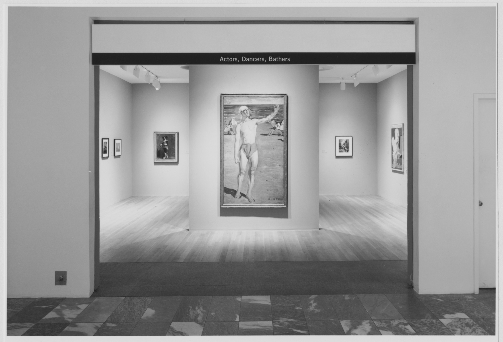 "Installation view of the exhibition, ""Actors, Dancers, Bathers, "" in the series, ""Modern Starts,"" 1st of 3 cycles of ""MoMA 2000"" October 6, 1999–February 1, 2000. Photographic Archive. The Museum of Modern Art Archives, New York. IN1836F.1. Photograph by Katherine Keller."