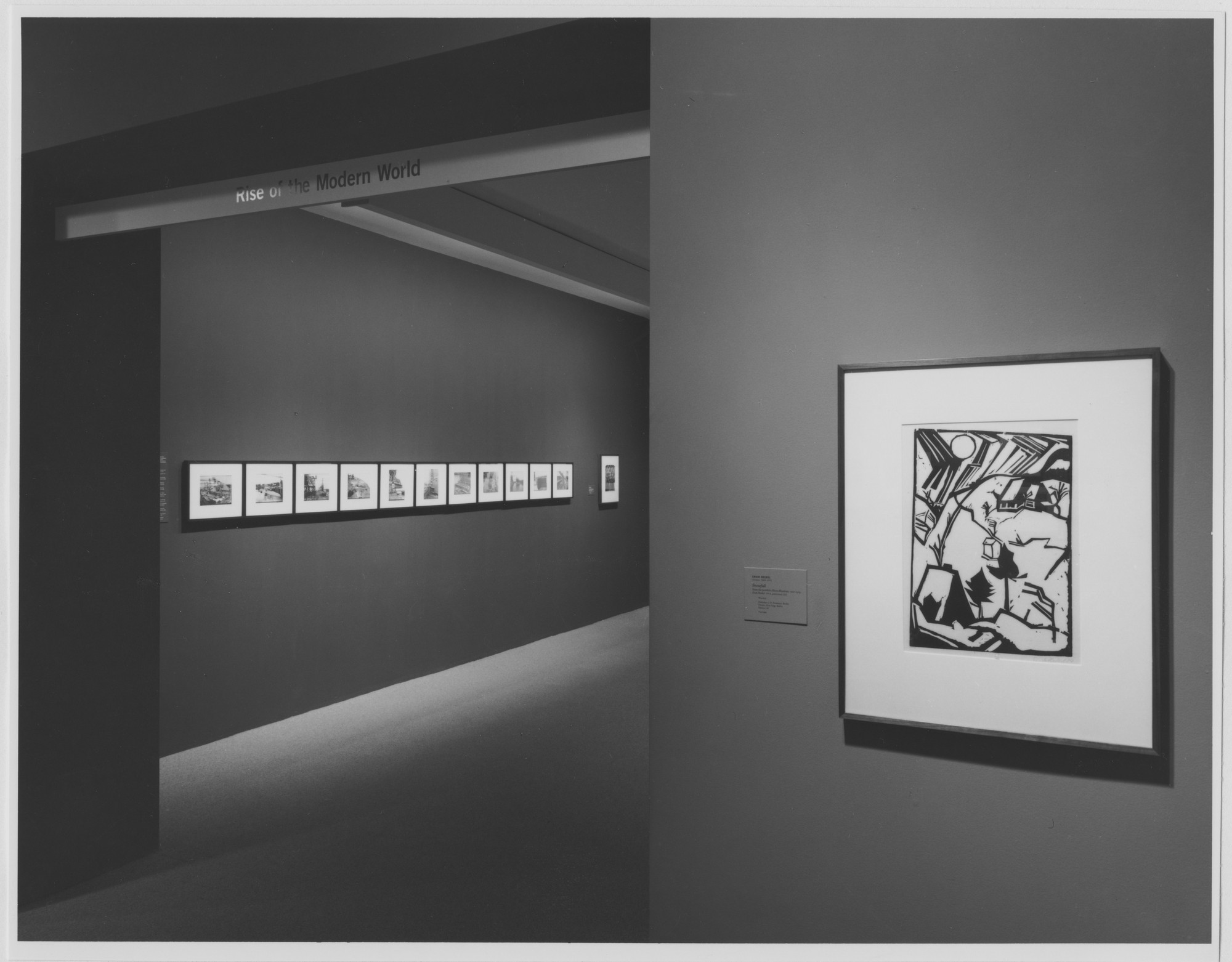 "Installation view of the exhibition, ""Rise of the Modern World, "" in the series, ""Modern Starts,"" 1st of 3 cycles of ""MoMA 2000"" October 27, 1999–March 14, 2000. Photographic Archive. The Museum of Modern Art Archives, New York. IN1837F.1. Photograph by Katherine Keller."