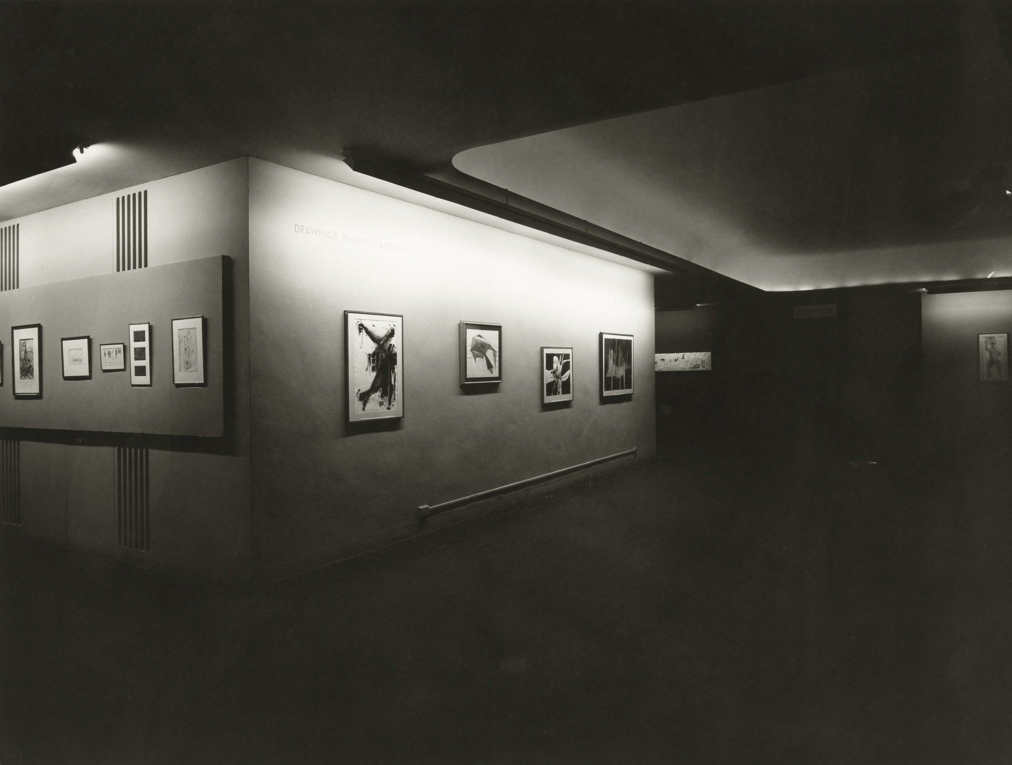 "Installation view of the exhibition, ""Drawings Recently Acquired for the Museum Collection"" January 29, 1957–February 24, 1957. Photographic Archive. The Museum of Modern Art Archives, New York. IN613.1. Photograph by Soichi Sunami."