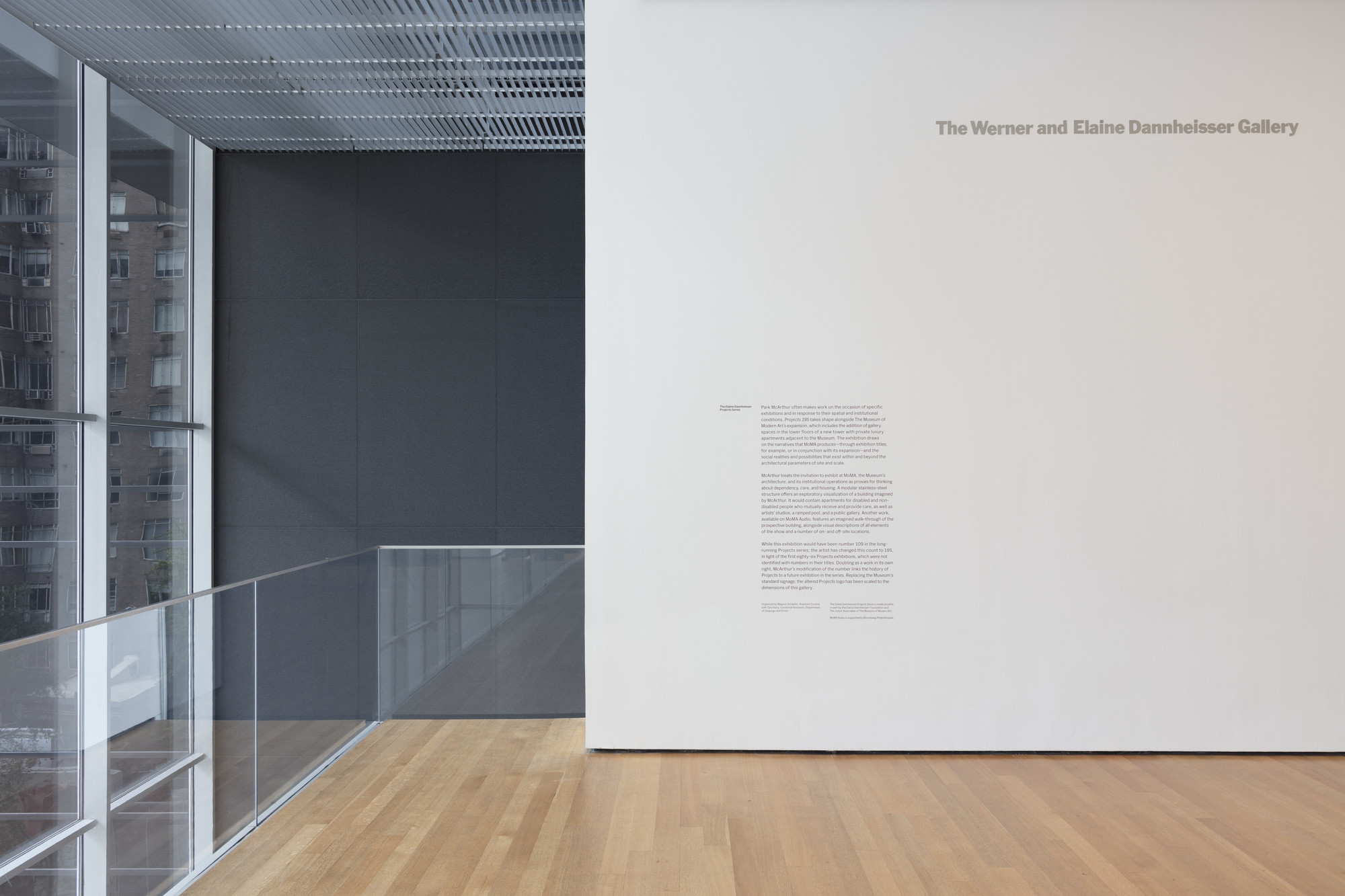 Installation View Of The Exhibition Projects 195 Park Mcarthur First Configuration Moma