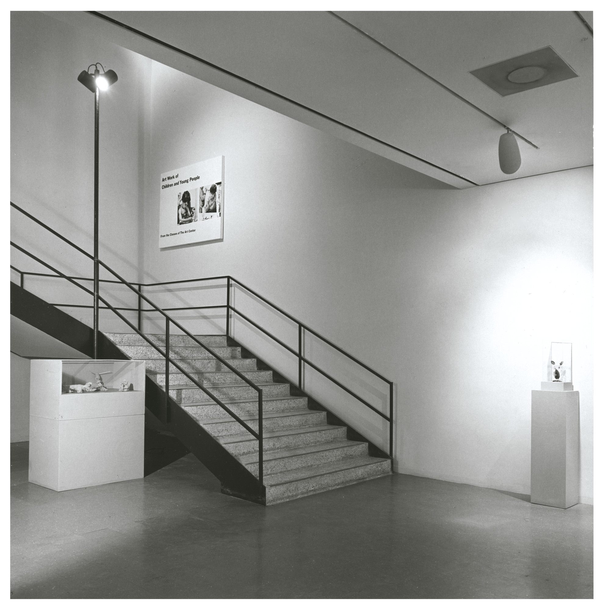 "Installation view of the exhibition, ""Art Work by Children and Young People from the Classes of the Art Center"" June 7, 1965–July 30, 1965. Photographic Archive. The Museum of Modern Art Archives, New York. IN767b.1. Photograph by Rolf Petersen."