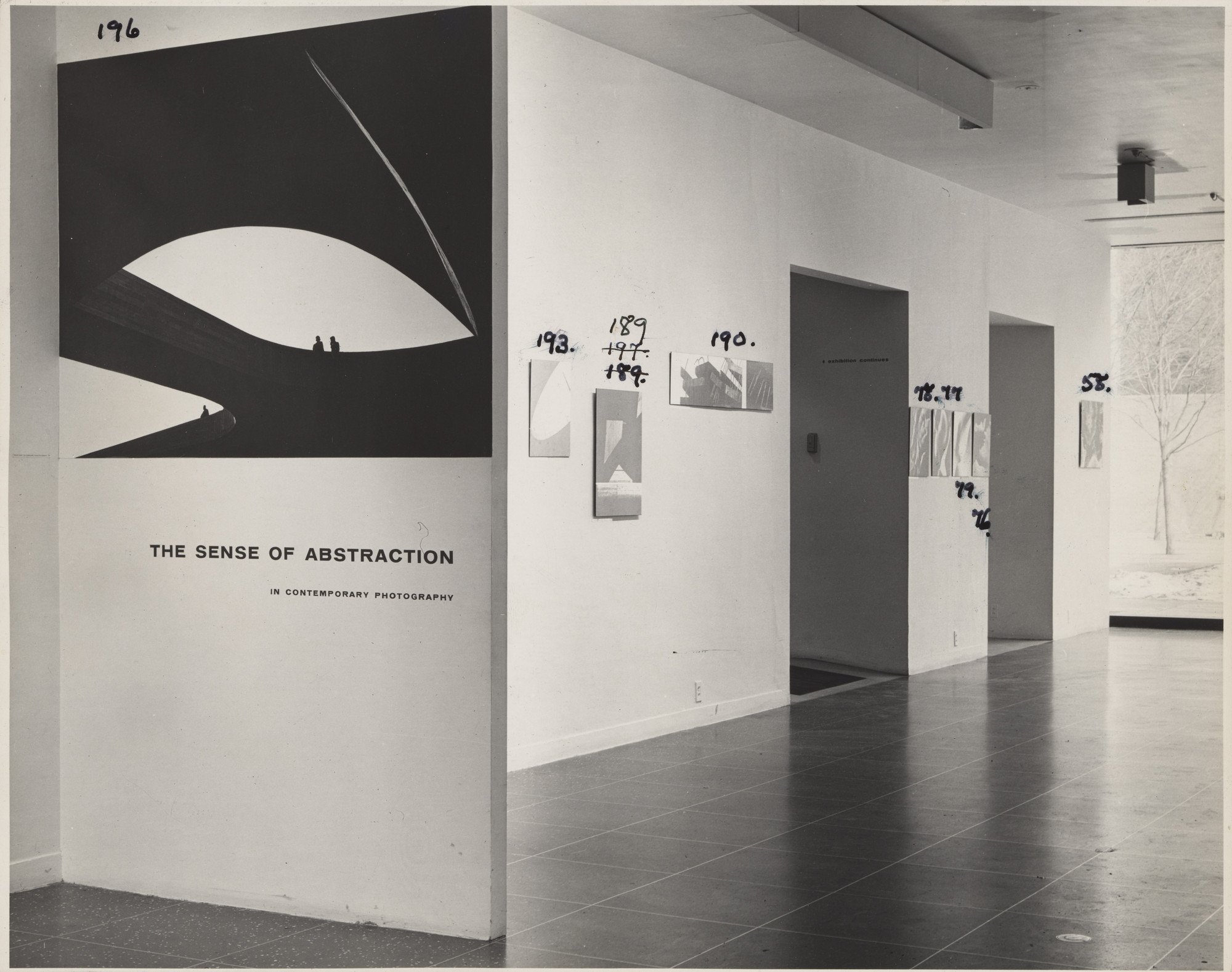 "Installation view of the exhibition, ""The Sense of Abstraction"" February 17–April 10, 1960. Photography Study Center, The Museum of Modern Art, New York. IN659.1"