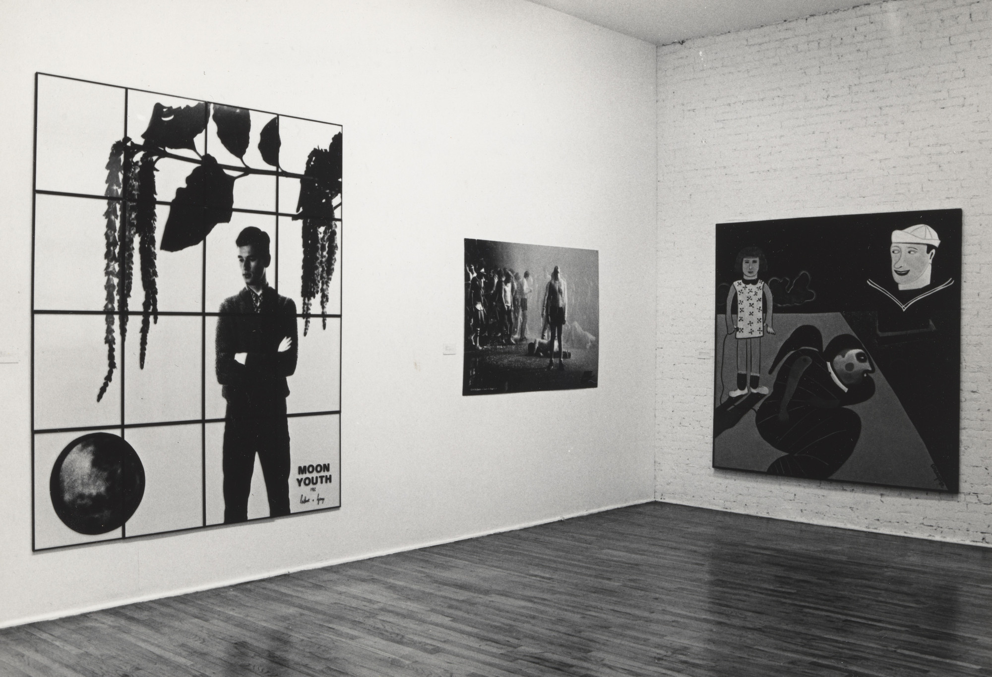 "Installation view of the P.S. 1 exhibition ""El Arte Narrativo Y Pintura Mexicana"" May 5–June 23, 1985. MoMA PS1 Archives, II.A.566. The Museum of Modern Archives, New York. INPS1.457.1. Photograph by Andrew Moore."