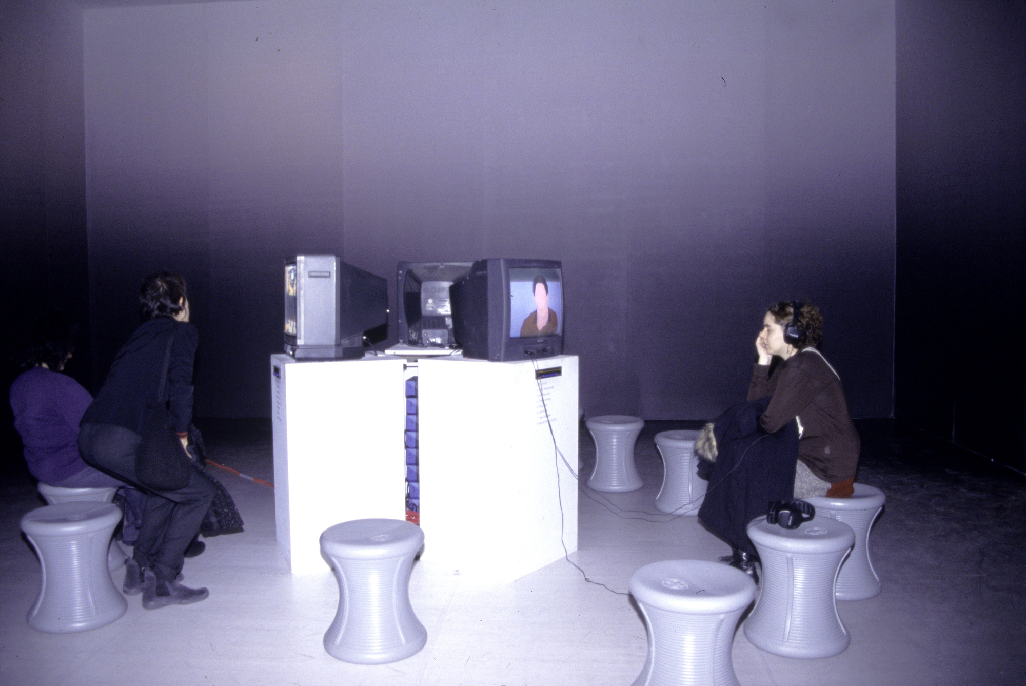 "Installation view of the P.S. 1 exhibition ""Loop"" December 9, 2001–January 27, 2002. MoMA PS1 Archives, II.A.1285. The Museum of Modern Archives, New York. INPS1.818.1. Photograph by Eileen Costa."