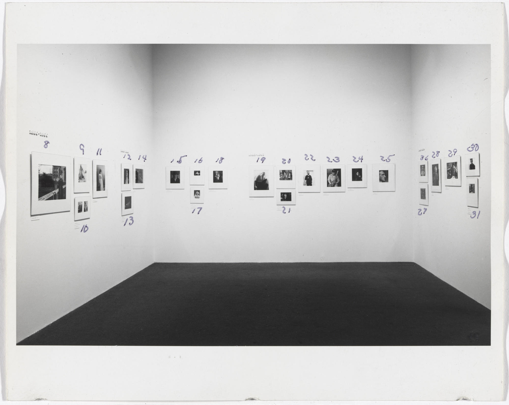 "Installation view of the exhibition ""Portrait Photographs"" July 9–September 28, 1969. Photography Study Center, The Museum of Modern Art, New York. IN896.1"