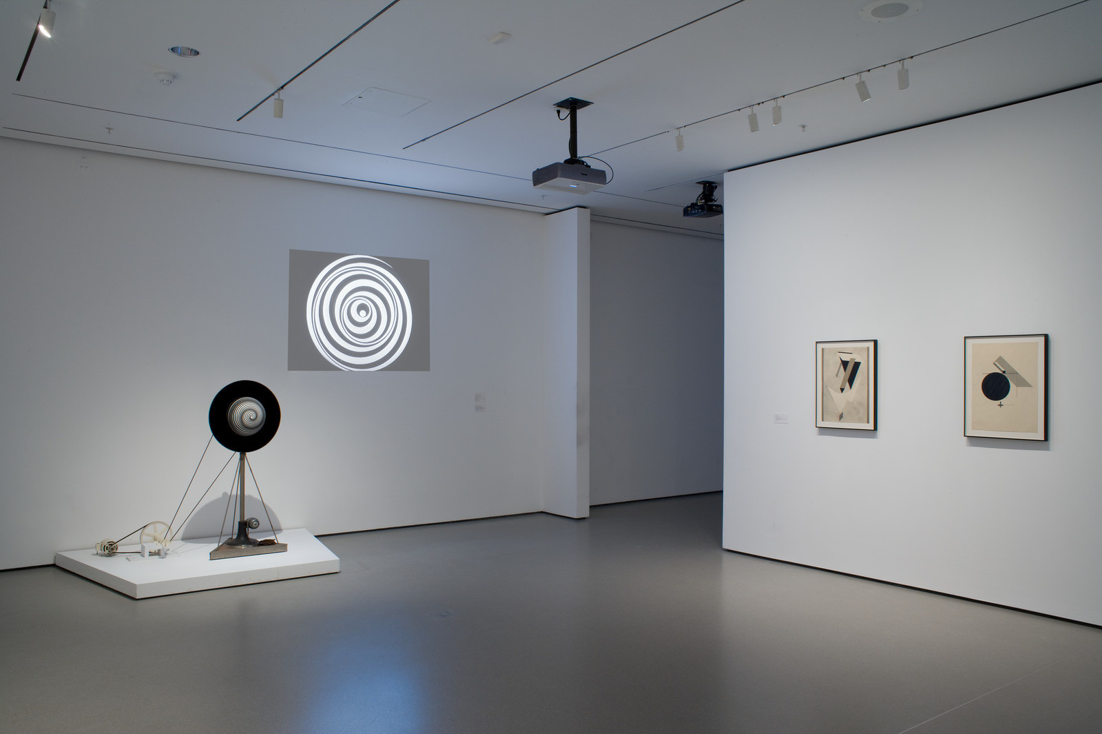 Installation view, Geometry of Motion 1920s/1970s, March 19, 2008–July 28, 2008
