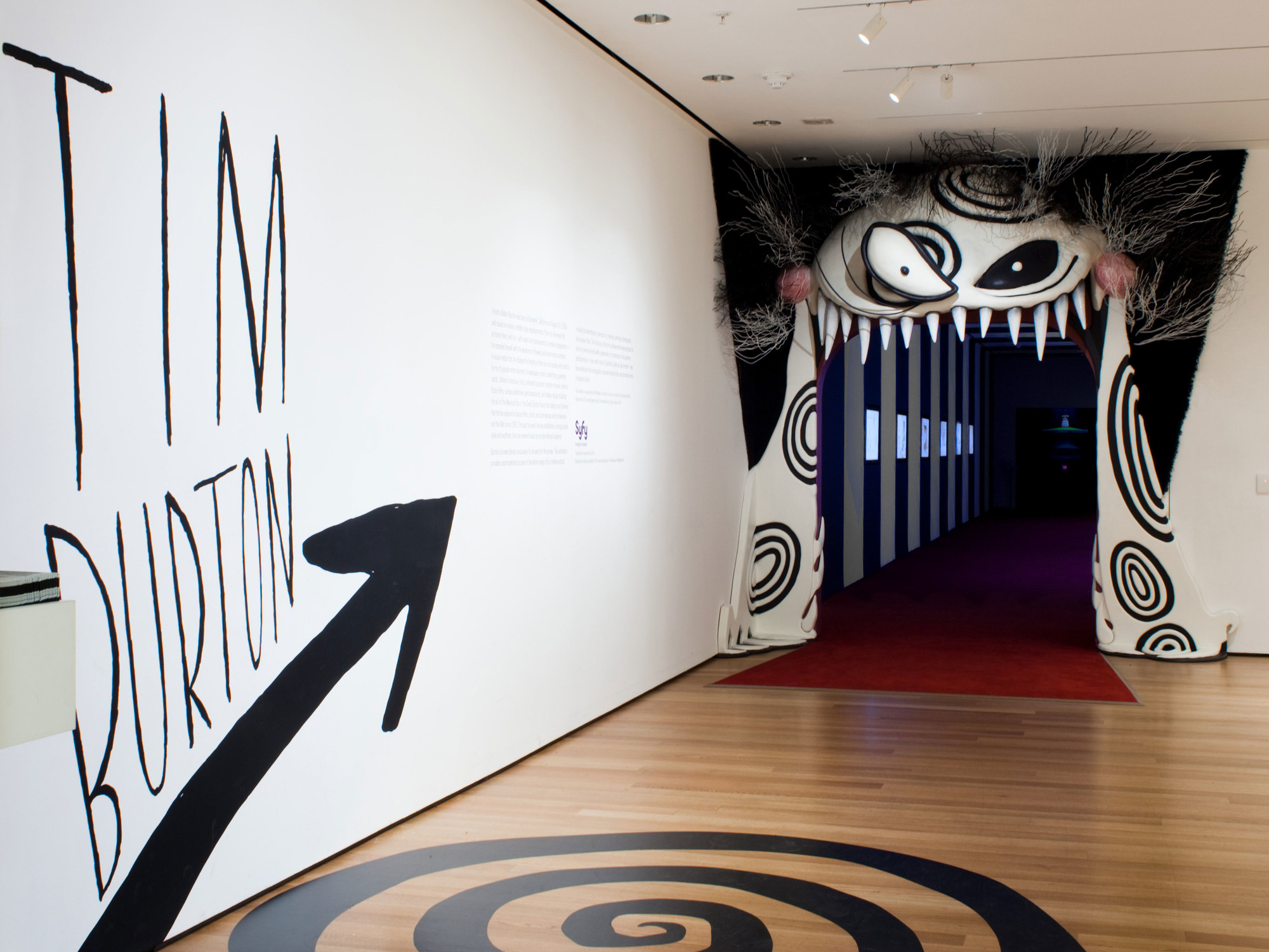 Installation view, Tim Burton, The Museum of Modern Art, November 22, 2009–April 26, 2010
