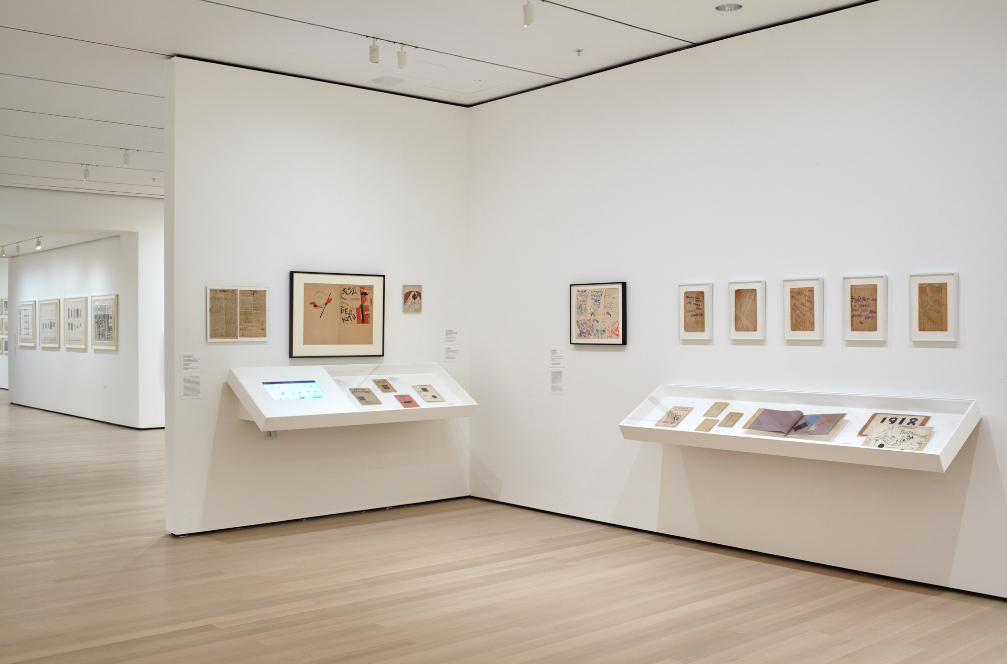 Installation view, A Revolutionary Impulse: The Rise of the Russian Avant-Garde, The Museum of Modern Art, December 3, 2016–March 12, 2017