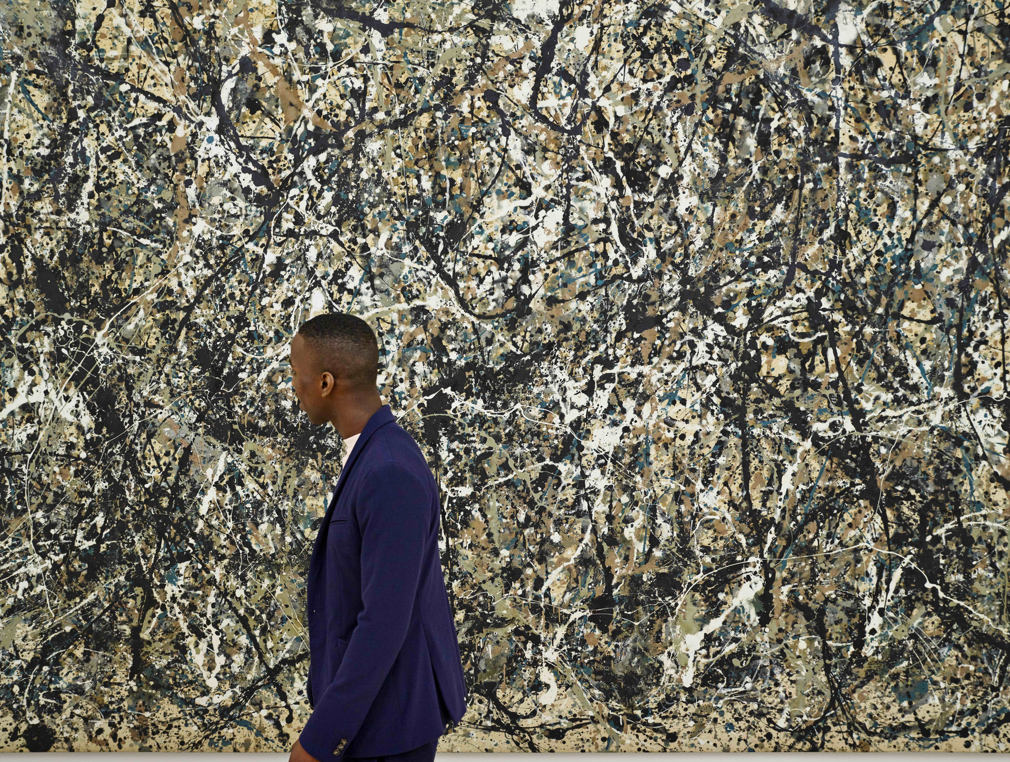 Photo: Noah Kalina. Shown: Jackson Pollock. One: Number 31, 1950 (detail). 1950. Oil and enamel paint on canvas. Sidney and Harriet Janis Collection Fund (by exchange). © 2019 Pollock-Krasner Foundation/Artists Rights Society (ARS), New York