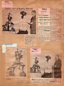 Detail of Cubism and Abstract Art press clippings, 1936. The Museum of Modern Art Archives, NY: Public Information Scrapbooks, &*35;25