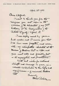 Letter from Max Weber to Alfred H. Barr, Jr., 1956. The Museum of Modern Art Archives, NY: Alfred H. Barr, Jr. Papers, 1.295