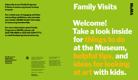 Family Visits brochure