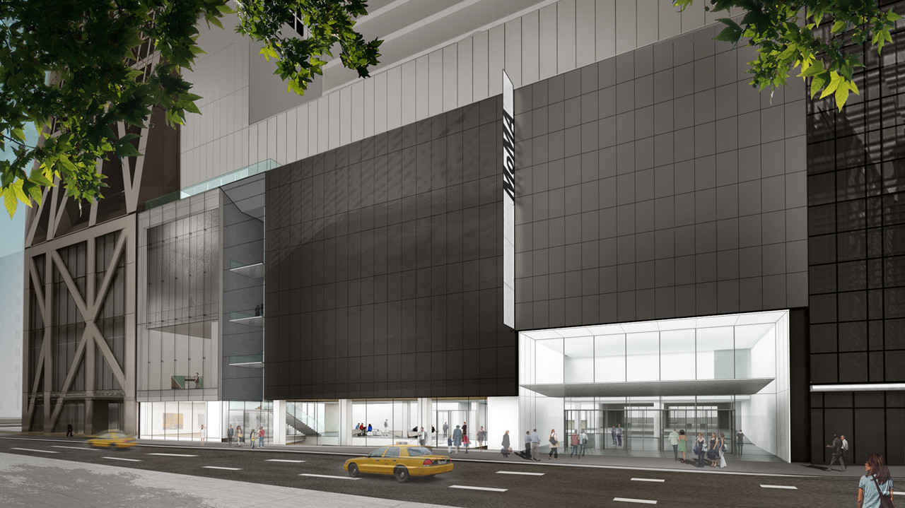 Exterior view of The Museum of Modern Art on 53rd Street. © 2019 Diller Scofidio+ Renfro