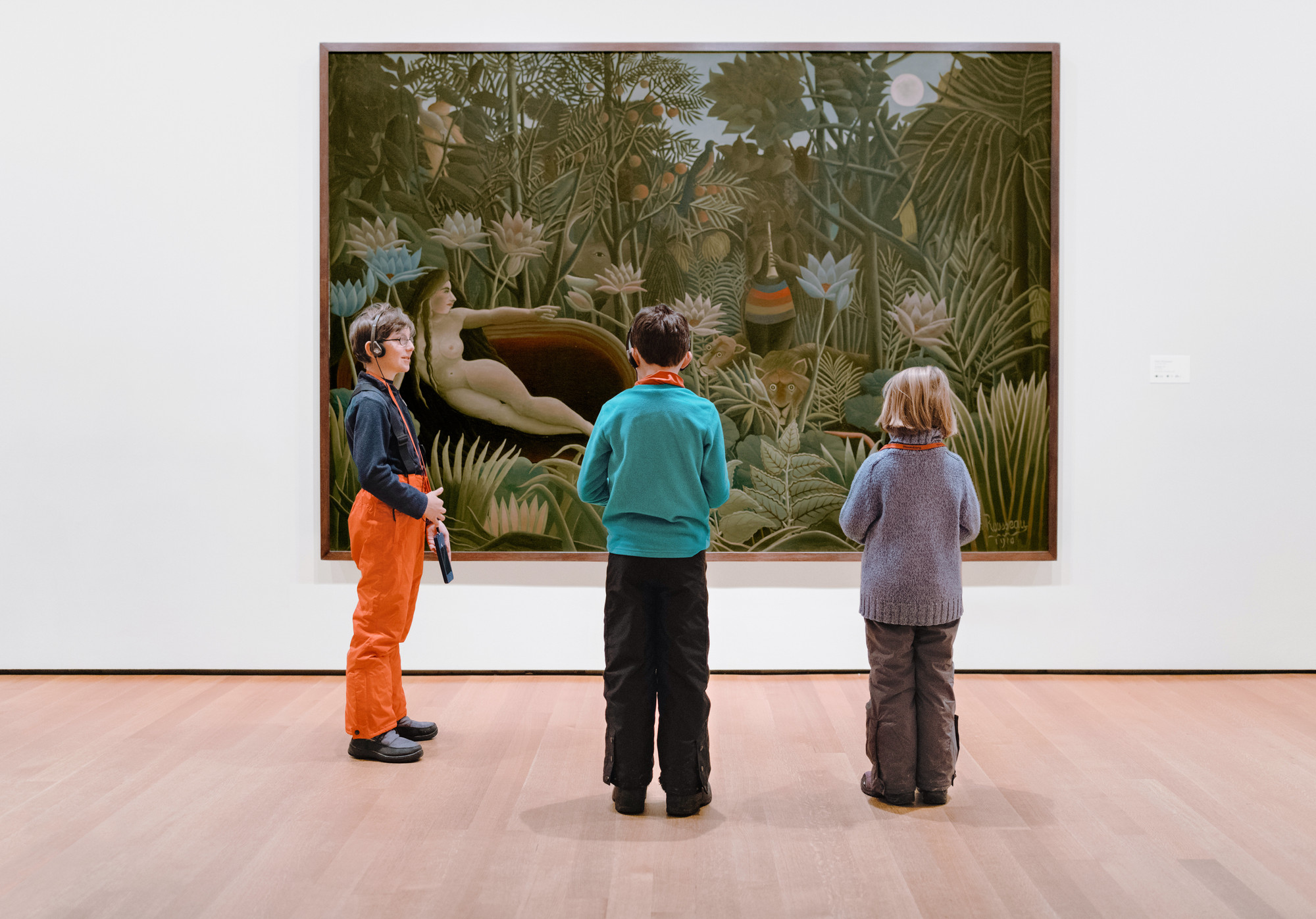 The fifth-floor Collection Galleries. Photo: Ryan Lowry. Shown: Henri Rousseau. The Dream. 1910. Oil on canvas, 6′81/2″× 9′91/2″ (204.5× 298.5cm). The Museum of ModernArt, New York. Gift of NelsonA. Rockefeller