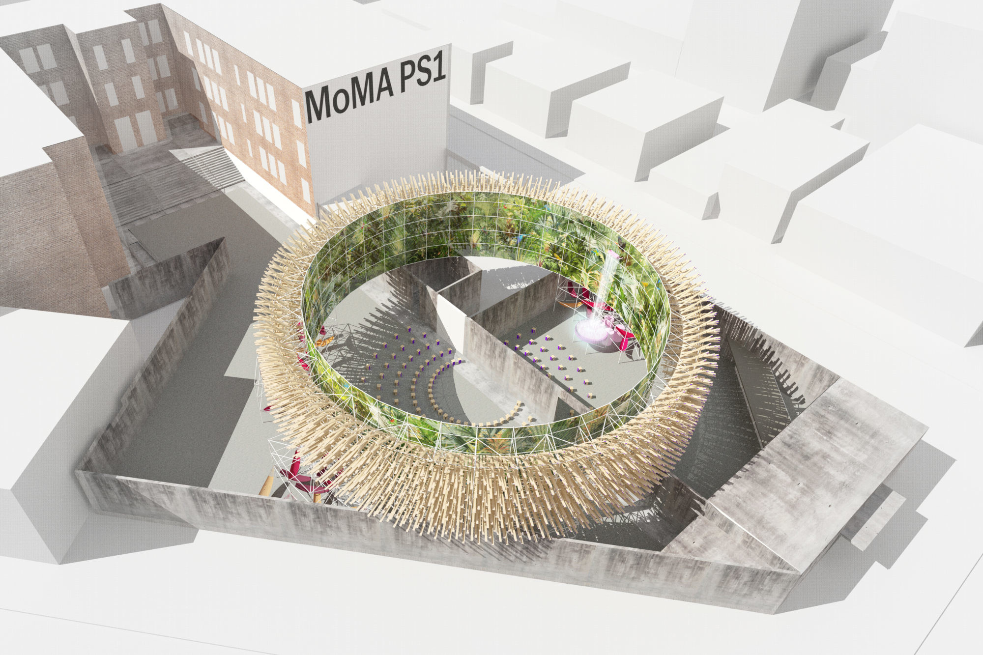 Hórama Rama by Pedro & Juana, winner of the 2019 Young Architects Program. Ana Paula Ruiz Galindo & Mecky Reuss. Mexico City, Mexico