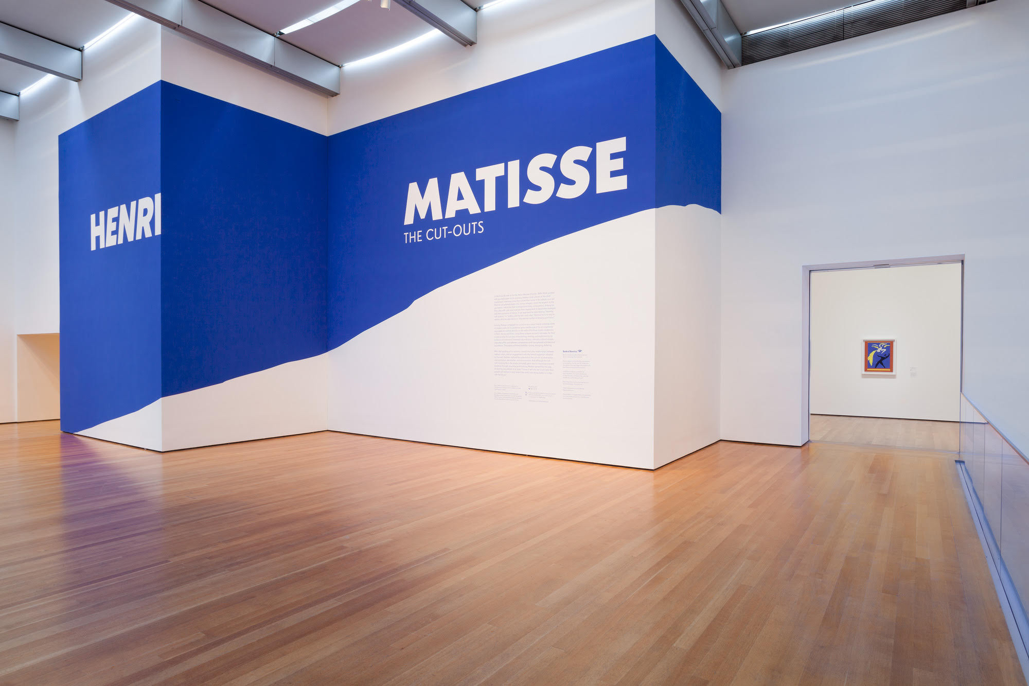 Title wall for Henri Matisse: The Cut-Outs exhibition. October 12, 2014–February 10, 2015. The Museum of Modern Art