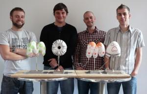 The Flix CGI team Simon Partington - Neil Sanderson - John Whittington and Mike Whipp
