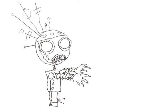 Tim Burton's original robot design