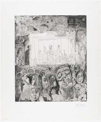 Pablo Picasso. After Rembrandt: Ecce Homo. 1970, published 1978.
