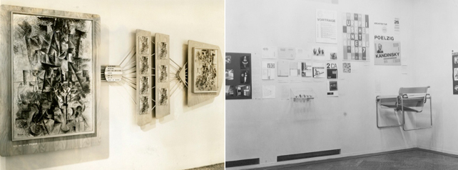 Alfred H.Barr Jr.'s experimental interpretative installations for Picasso: Forty Years of His Art, 1940 and Cubism and Abstract Art, 1936 at MoMA.