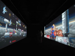 Video game installation (color, sound). The Museum of Modern Art. Given anonymously. Installation view, Guangdong Museum, 2008. © 2010 Feng Mengbo. Courtesy the artist.