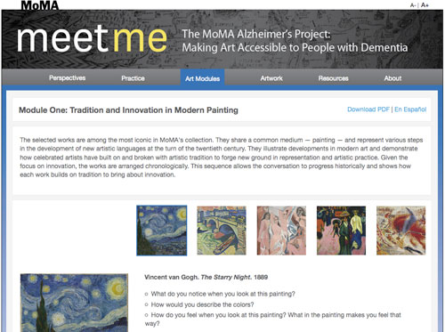 Screenshot from the Meet Me site