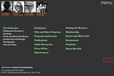 MoMA.org in 1997