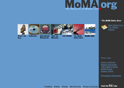 MoMA.org in 2001