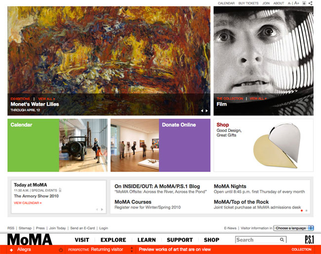 MoMA.org in 2010