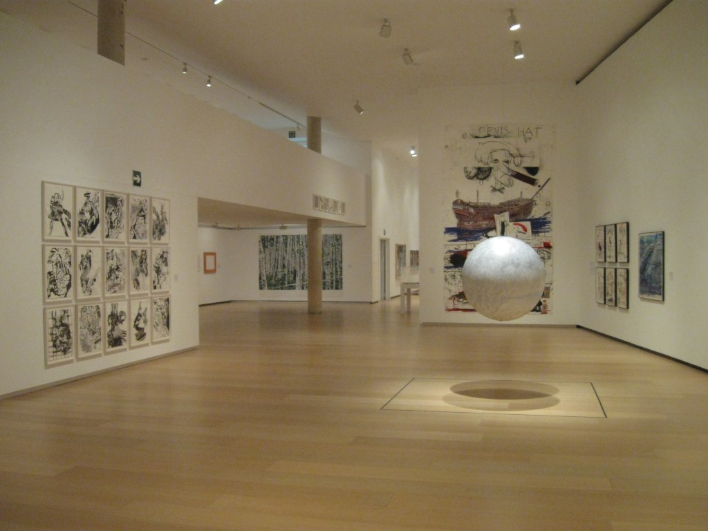 "An installation view of ""Compass in Hand"" a"