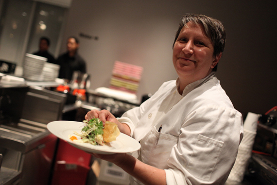 Executive Chef Lynn Bound of the Art Food Cafés. All photographs by Paula Court