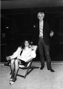 Kathryn Bigelow and Andy Warhol, Deauville, September 1981. Photo: Philippe Ledru