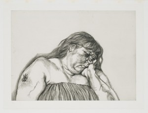 Lucian Freud. Woman with an Arm Tatoo