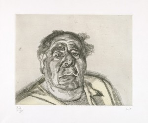 Lucian Freud. Lord Goodman in His Yellow Pyjamas