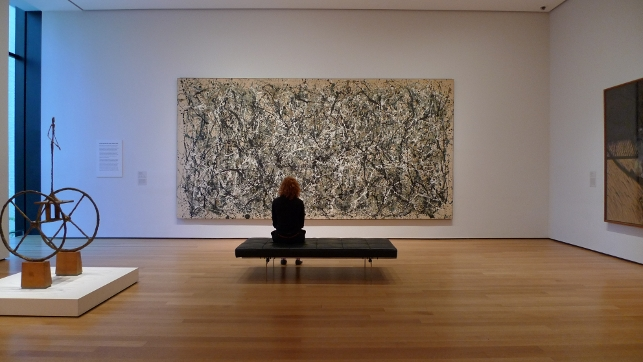 moma where is one moma s jackson pollock conservation project. Black Bedroom Furniture Sets. Home Design Ideas