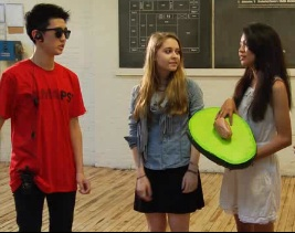 Cross-Museum Collective teens on the set of The Teenager's Guide to the ...