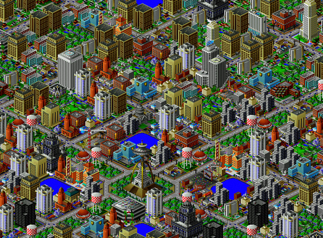 SimCity 2000. 1994. Will Wright for Maxis, now part of Electronic Arts, Inc