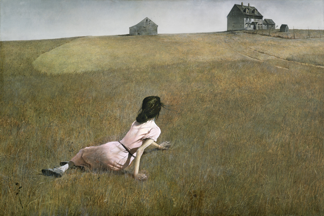 Andrew Wyeth, <i>Christina's World</i> (1948). The Museum of Modern Art, New York.  Purchase. © 2012 Andrew Wyeth