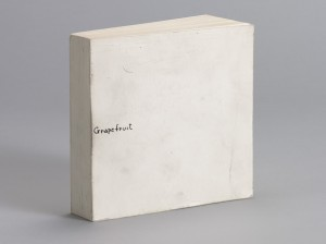 Yoko Ono. Grapefruit. 1964. Artist's book, dimensions 13.9 x 13.8 x 3.1 cm (closed). Published by the artist under the name Wunternaum Press. The Museum of Modern Art, New York. Gift of the Gilbert and Lila Silverman Fluxus Collection. Photo: Peter Butler.