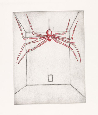 <em>Spider,</em> from the illustrated book, <em>He Disappeared into Complete Silence,</em> second edition. 2001–02. Seven of 17 evolving versions and states, plates: approx. 7 x 5 1/2