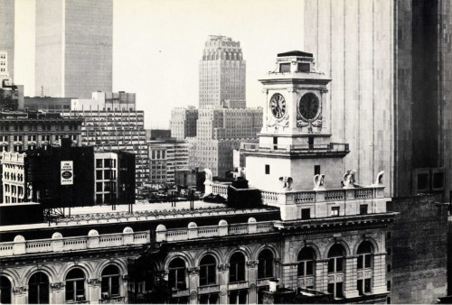 Postcard showing the Clocktower, Gallery, on the 13th floor of 108 Leonard Street at Broadway, in lower Manhattan, c. 1978. Photograph  by Thomas Struth. MoMA PS1 Archives, II.B.3.