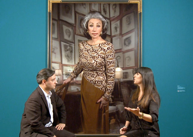 Pablo Helguera and Eva Respini discuss the work of Cindy Sherman. Shown: Cindy Sherman. Untitled #474. 2008