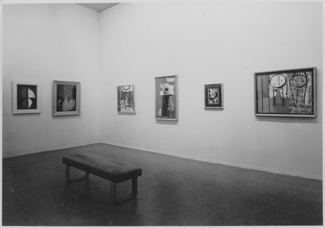 Installation view of the exhibition, Fourteen Americans, September 10, 1946 through December 8, 1946. The Museum of Modern Art, New York. Gelatin-silver print, 6 1/2 x 9 1/2″ (16.5 x 24.1 cm). Photographic Archive. The Museum of Modern Art Archives, New York. Photo by Soichi Sunami