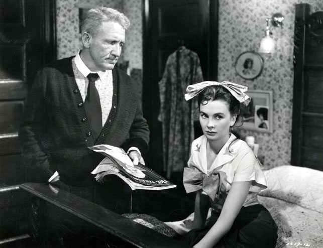Spencer Tracy and Jean Simmons in The Actress. 1953. USA. Directed by George Cukor
